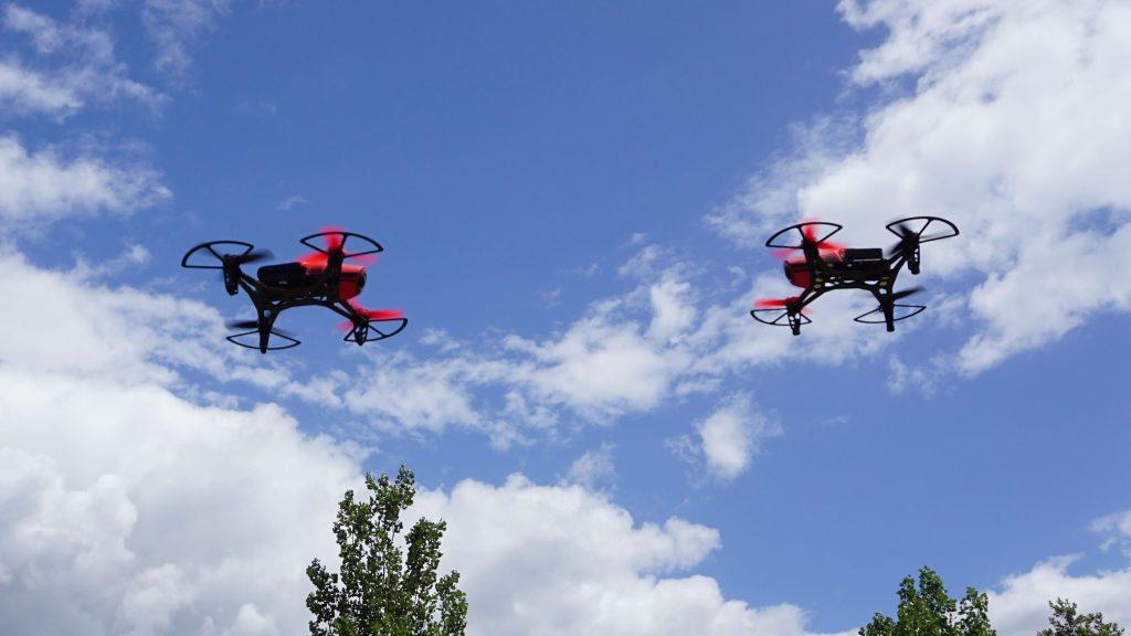 due modelli di ftd300x che volano vicini droni 300 grammi