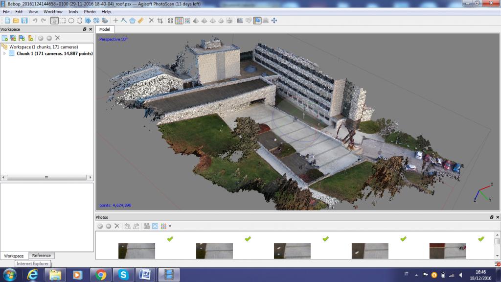 analisi ed elaborazione di dati fotogrammetrici dal drone di 300 grammi