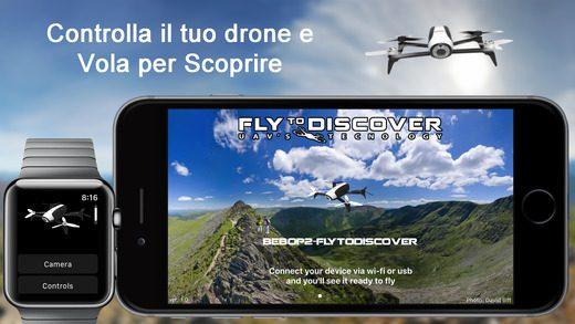 FlyToDiscover - Bebop app per iPhone