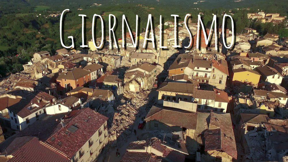 drone documenta il terremoto d'Amatrice