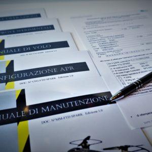 manualistica e dichiarazione di rispondenza al regolamento ENAC SAPR spark dji