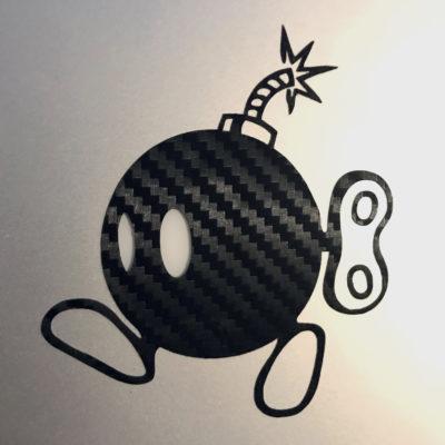 Logo Adesivo personalizzato logo adesivo personalizzato vari colori vinile su drone nero bomb
