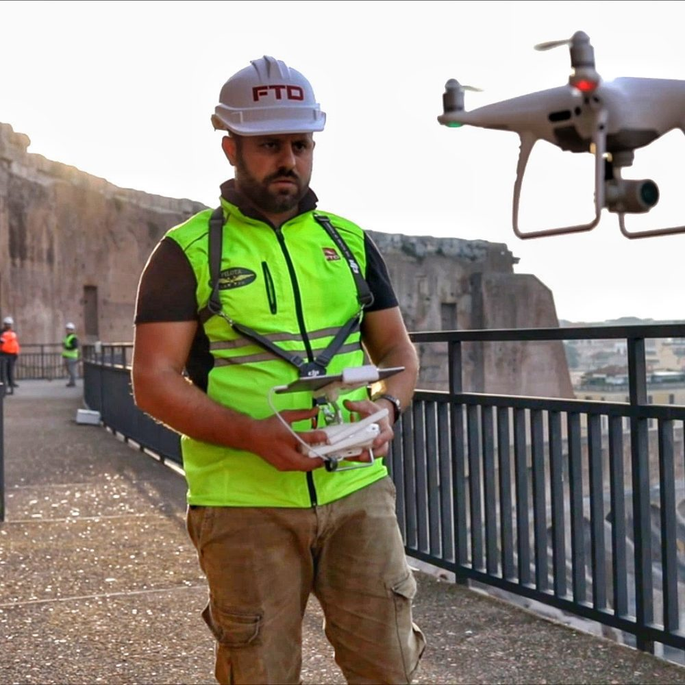 noleggio drone più operatore roma