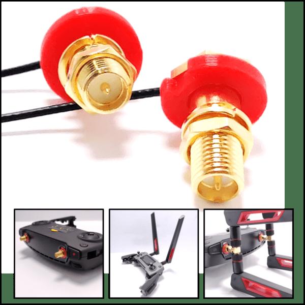 Mavic Mini Antenna modifica antenna -RP-SMA MAVIC Cavo Antenna MOD Mavic - Antenna Cable MOD Mavic - Accessori Mavic - Ricambi Mavic - RP-SMA IPX