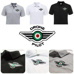 Polo Pilota Drone - Maglietta pilota -Abbigliamento Pilota Drone - Idea Regalo Natale Pilota Drone - Accessori abbigliamento